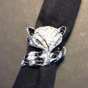 Jewelry - Vintage Rhinestone Fox Ring 🦊